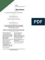 Otter/Idaho v. Latta Plaintiffs' opposition to Supreme Court review