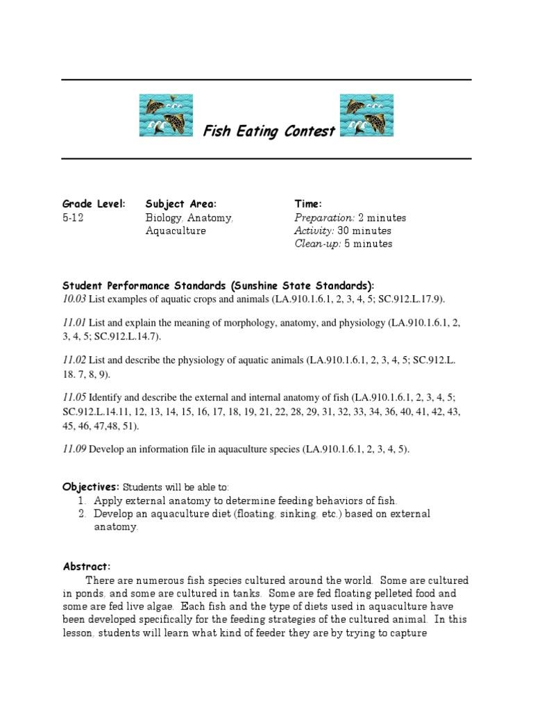 Fish Eating Contest2   Aquatic Vertebrates   Fish