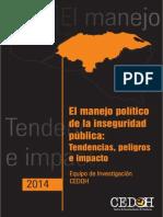 Edilberto Romero y otros - Manejo Politico Inseguridad
