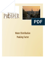Water Distribution Peaking Factor