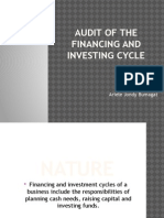Audit of the financing and investing cycle