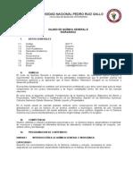 Silabo Quimica General e Inorgánica - MED VET - 2013 II