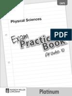 Platinum Physical Sciences Grade 10 Exam Practice Book
