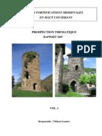 Forteresses Du Haut Couserans Thibaud Lasnier Rapport Prosp Thematique 2007 Vol. 1