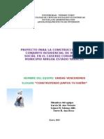PROYECTO PARA LA CONSTRUCCIÓN DE UN CONJUNTO RESIDENCIAL DE INTERÉS SOCIAL EN EL CASERIO CORUMBO DEL MUNICIPIO NIRGUA ESTADO YARACUY
