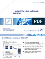Deutsche - Effects of Crisis on Real Economy - Jan 14 2010