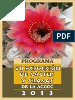 Programa Exposicion Cactus y Crasas 2013