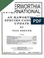 Haworthia Species Concept [Ingo Breuer]