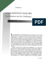 Pelias Performative Inquiry