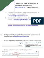 Configuración de Gmail para importar otros correos