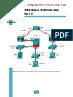 Lab05 - Configuring ASA Basic Settings and Firewall Using CLI