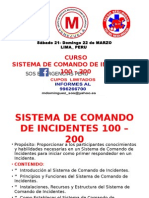 COMANDO DE INCIDENTES- LIMA Sábado 21- Domingo 22 de MARZO
