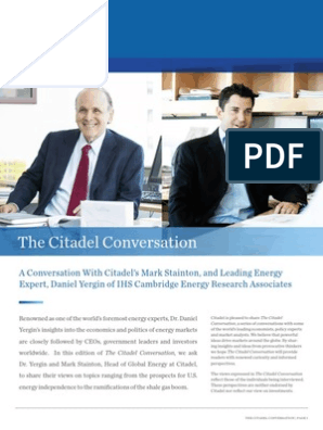 The Citadel Conversation With Daniel Yergin and Mark Stainton