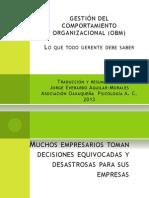 Administracion Gestion Comportamiento Organizacional Modificacion Conducta