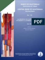 LAS REMESAS, EL GASTO DEL HOGAR, LA INVERSIÓN Y LA POBREZA EN GUATEMALA