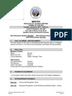 Minutes January 6, 2015