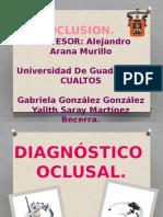 oclusión. diagnótico oclusal.