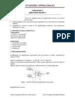 Lab 1 Aplicaciones Lineales básicas operacionales