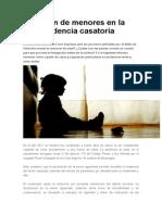 Violación de Menores en La Jurisprudencia Casatoria