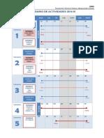 Cct Calendario de Actividades 2014 III