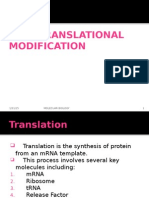 Post Translational Modifications