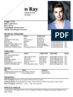 Final Musical theatre resume