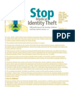 Stop Medical Identity Theft