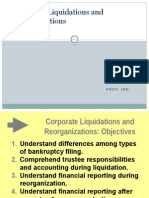 Corporate Liquidation and Reorganization PRESENTATION