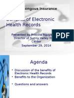Benefits of Electronic Health Records