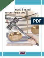 Agreement Signed Under Pressure