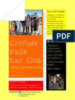 Cypress Falls Key Club October 2014 Newsletter