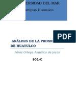 1. Análisis de La Promoción de Huatulco