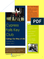 Cypress Falls Key Club November 2014 Newsletter