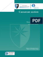 2011 NICE RCOG Caesarean Section Guidelines
