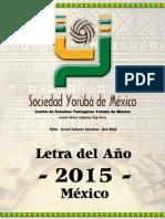 Letra Del Año 2015 - Final