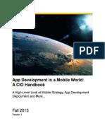 App Development in a Mobile World%3a a CIO Handbook