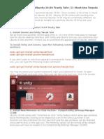 How to Customize Ubuntu 14.04 Trusty Tahr