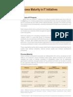 Process Maturity in IT Initiatives