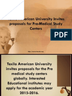 Texila American University Invites proposals for Pre-Medical Study Centers