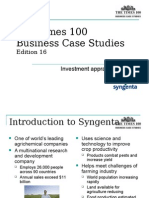 Syngenta Case Study Investment Appraisal