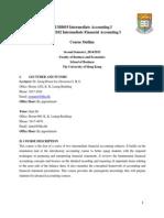 Intermediate Accounting Course Outline 2014-2015 (January 2015)-Jeong Joo v.1