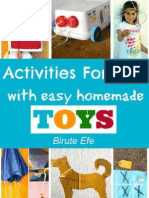 Activities for Kids With Homeade Toys created from recyclable items