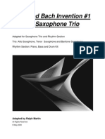 Jazzified Bach Saxophone Trio Invention 1