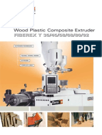 Wood Plastic Composite Extruder FIBEREX T 35/45/58/68/80/92