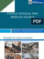 Politica estadual de destinação de resíduos sólidos