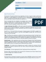 Import & Export Procedures - EAC