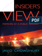 The Insider's View - Memoirs of a Public Servant - Javid Chowdhury