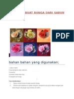 Membuat Bunga Dari Sabun Mandi