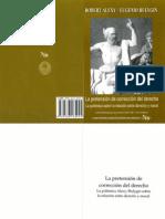Alexy, Roberth y Bulygin, Eugenio. La Pretensión de Corrección en El Derecho