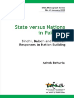 State Versus Nations in Pakistan by Ashok Behuria